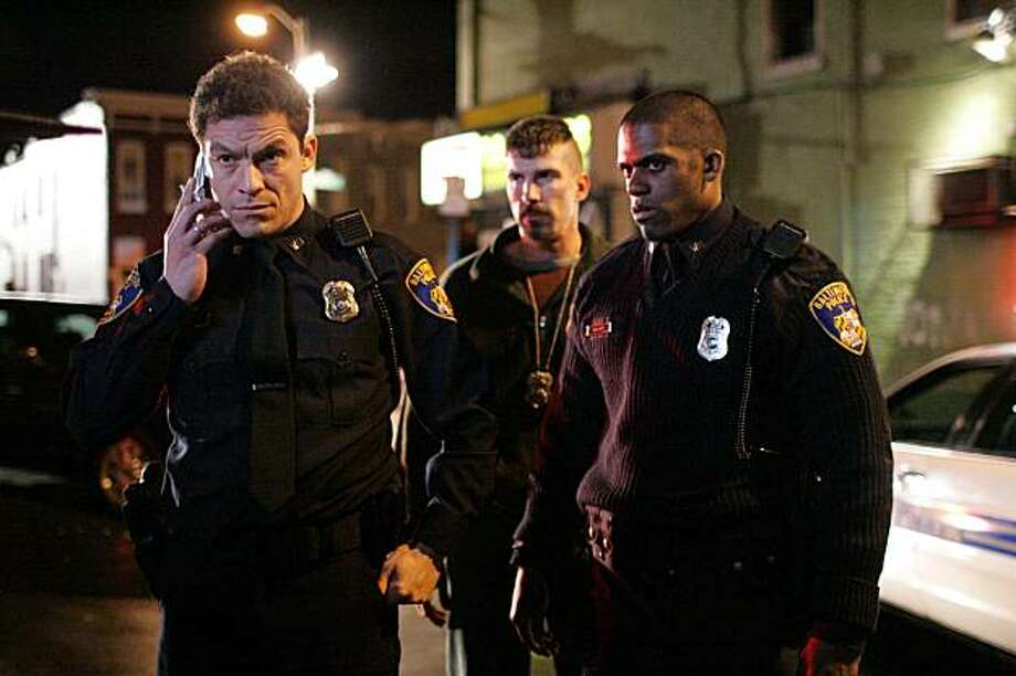 The Wire: Omar Arrested McNulty, Santangelo & Colicchio are on scene. Photo: Paul Schiraldi, HBO