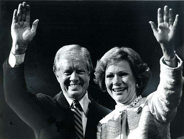 Jimmy Carter and his wife Rosalynn Carter Photo: Susan Gilbert, The Chronicle