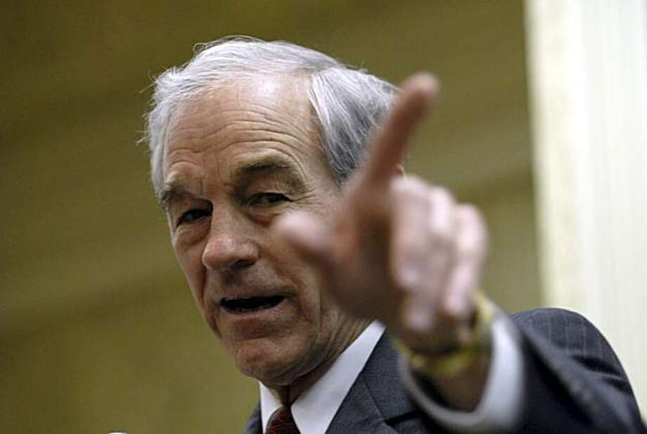 Republican presidential hopeful Rep. Ron Paul, R-Texas campaigns in Kenner, La., Monday, Jan. 21, 2008. (AP Photo/Cheryl Gerber) Photo: Cheryl Gerber, AP