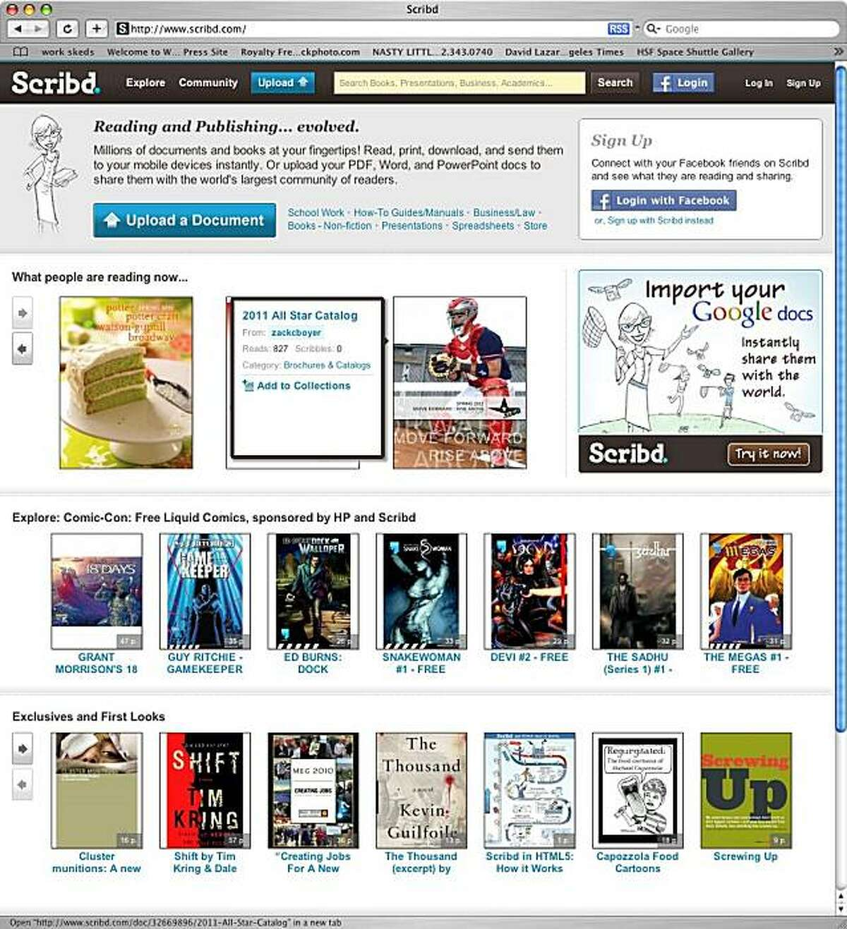 for website of the week, wow09: scribd.com