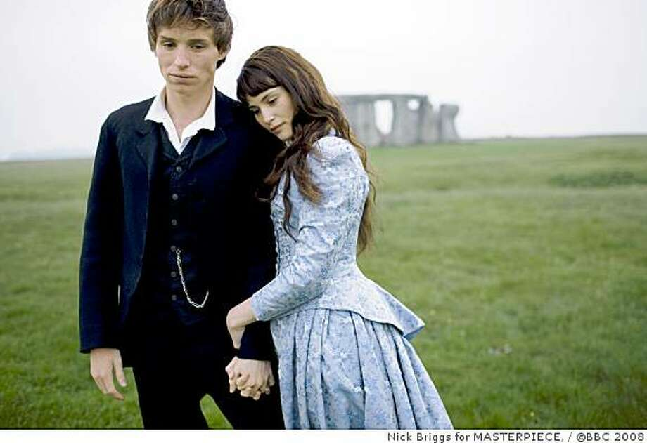Violated by one man, forsaken by another, Tess Durbeyfield is the magnificent and spirited heroine of Thomas Hardy's heartbreaking novel. The cast includes Gemma Arterton (Quantum of Solace ) as Tess (right) and Eddie Redmayne (Elizabeth: The Golden Age ) as Angel, the man she loves. Photo: Nick Briggs For MASTERPIECE,, �BBC 2008