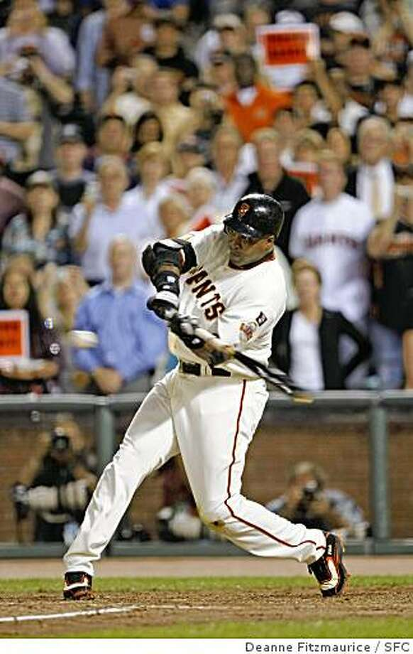 Barry Bonds takes his final at bat - a pop out - and then leaves the field for the last time in the 6th inning as he plays his final game at AT&T Park as a San Francisco Giant in game against San Diego Padres. Photographed in San Francisco on 9/26/07. Deanne Fitzmaurice / The Chronicle Photo: Deanne Fitzmaurice, SFC