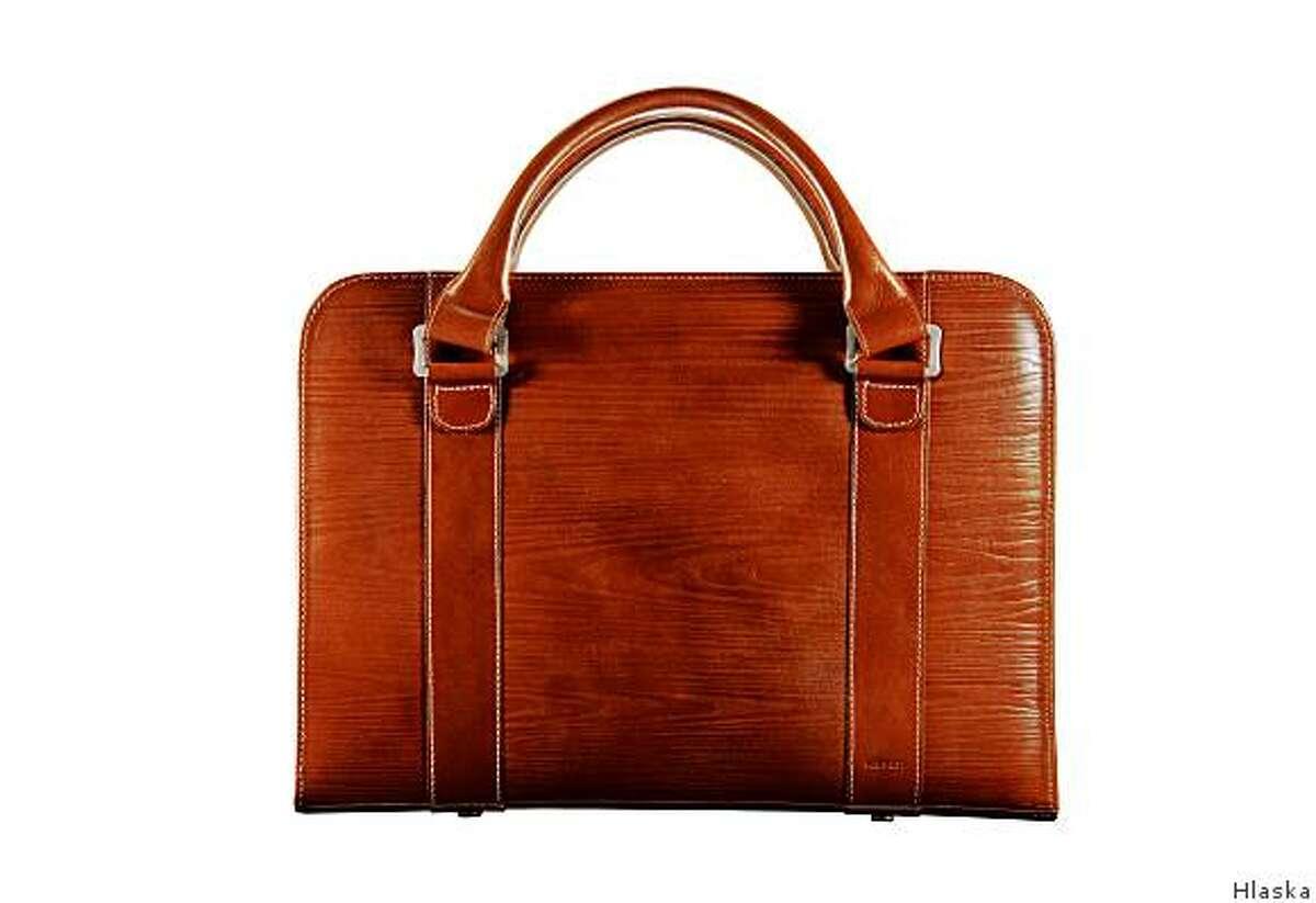 Hlaska Evergreen briefcase, $795