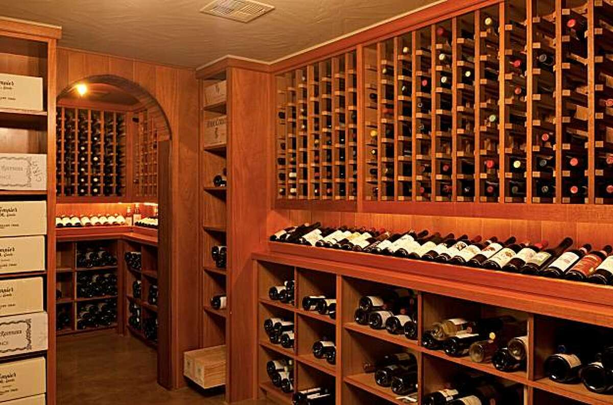 The wine cellar at 726 Euclid for the real estate cover