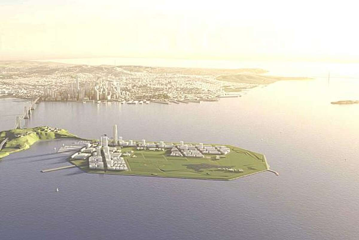 The redevelopment proposed for Treasure Island and Yerba Buena Island would turn the former navy base into a district of San Francisco with as many as 7,500 housing units and 300 acres of parkland