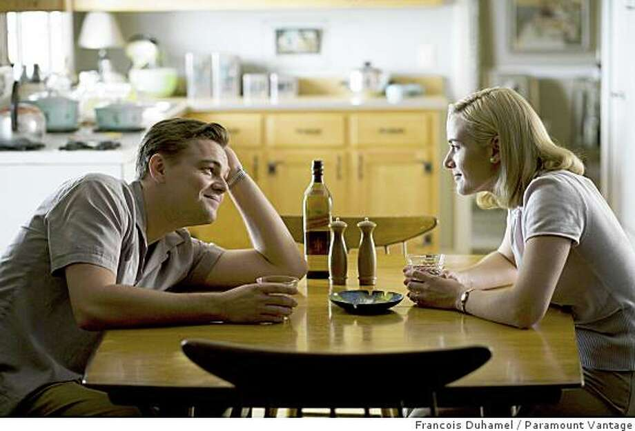"Leonardo DiCaprio, left, and Kate Winslet are shown in a scene from, ""Revolutionary Road."" Photo: Francois Duhamel, Paramount Vantage"