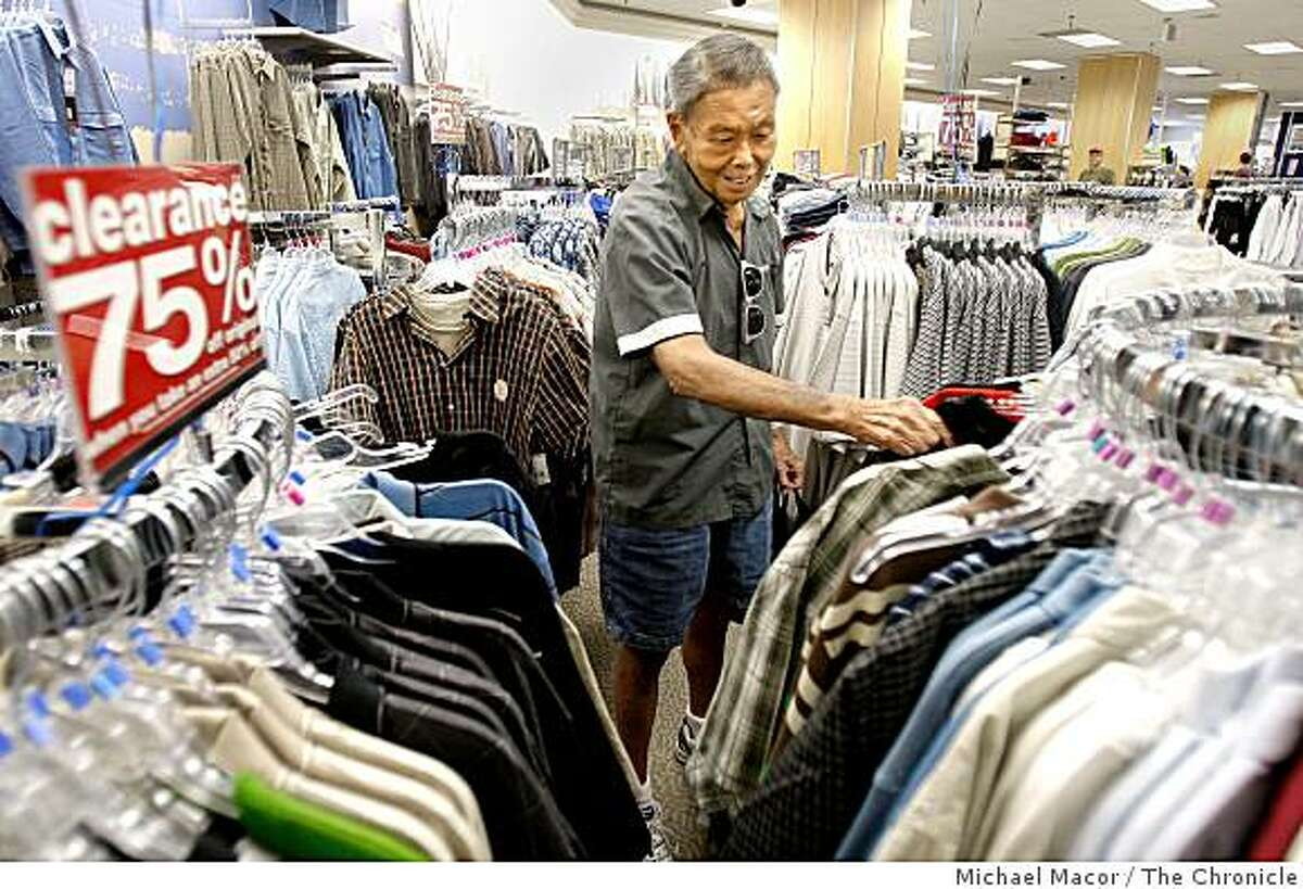 Liquidation sales will start today (Friday, Oct. 31) at Mervyns, the 59-year-old department store chain based in Hayward that announced earlier this month it would go out of business. San Francisco resident Brian Lee shopping at the Mervyn's Department store on the corner of Masonic and Geary Streets on Friday Oct. 17, 2008, learned today of the store's closing. The ailing department store, which filed for Chapter 11 bankruptcy protection in July, announced today that it plans to liquidate all of its stores. Lee says he has shopped the Mervyn's San Francisco store for the past 5 years.