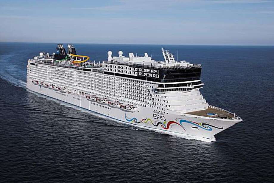 An aerial view of the new Norwegian Epic, the largest ship in the Norwegian Cruise Line fleet. Photo: Norwegian Cruise Line