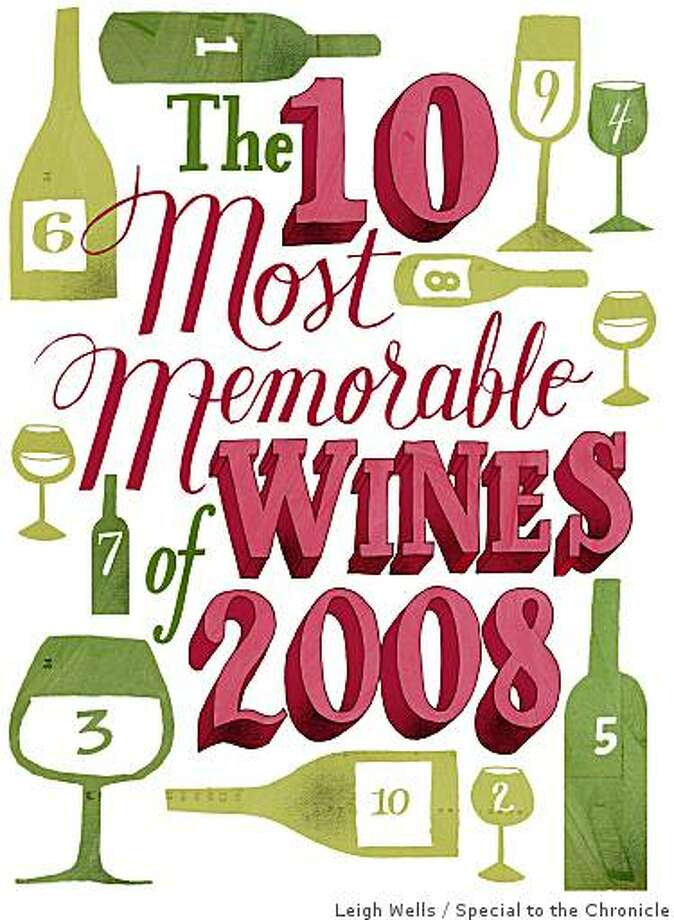 "Illustration for ""The 10 Most Memorable Wines of 2008"" by Leigh Wells. Photo: Leigh Wells, Special To The Chronicle"