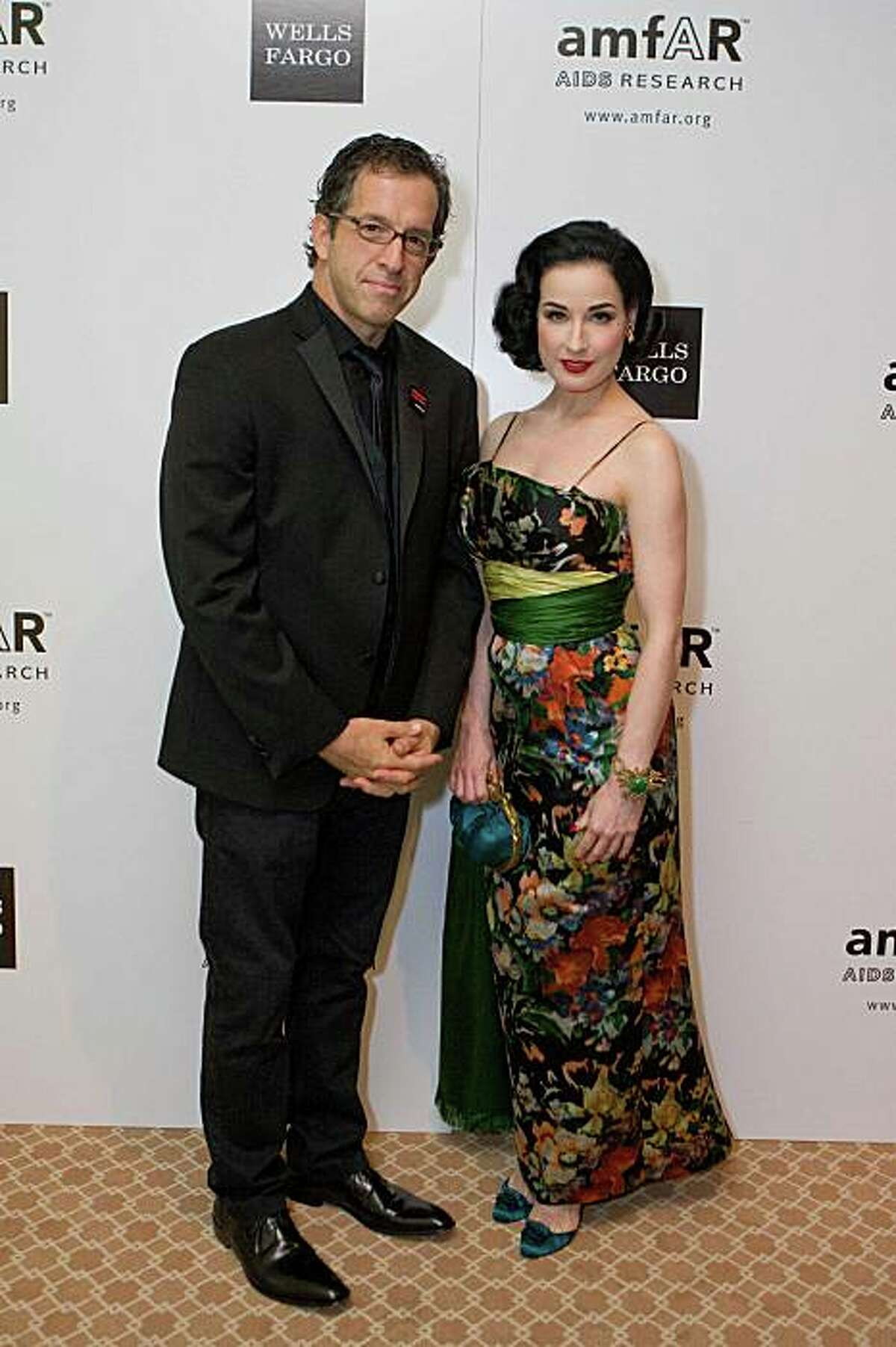 AmFar's 10th annual San Francisco Gala was held Nov. 15 at the Four Seasons. Designer Kenneth Cole (left) handed awards to burlesque performer Dita Von Teese (right) and Dr. Mervyn Silverman (not pictured) for their work in education and prevention of HIV and AIDS. Kenneth Cole, Dita Von Teese