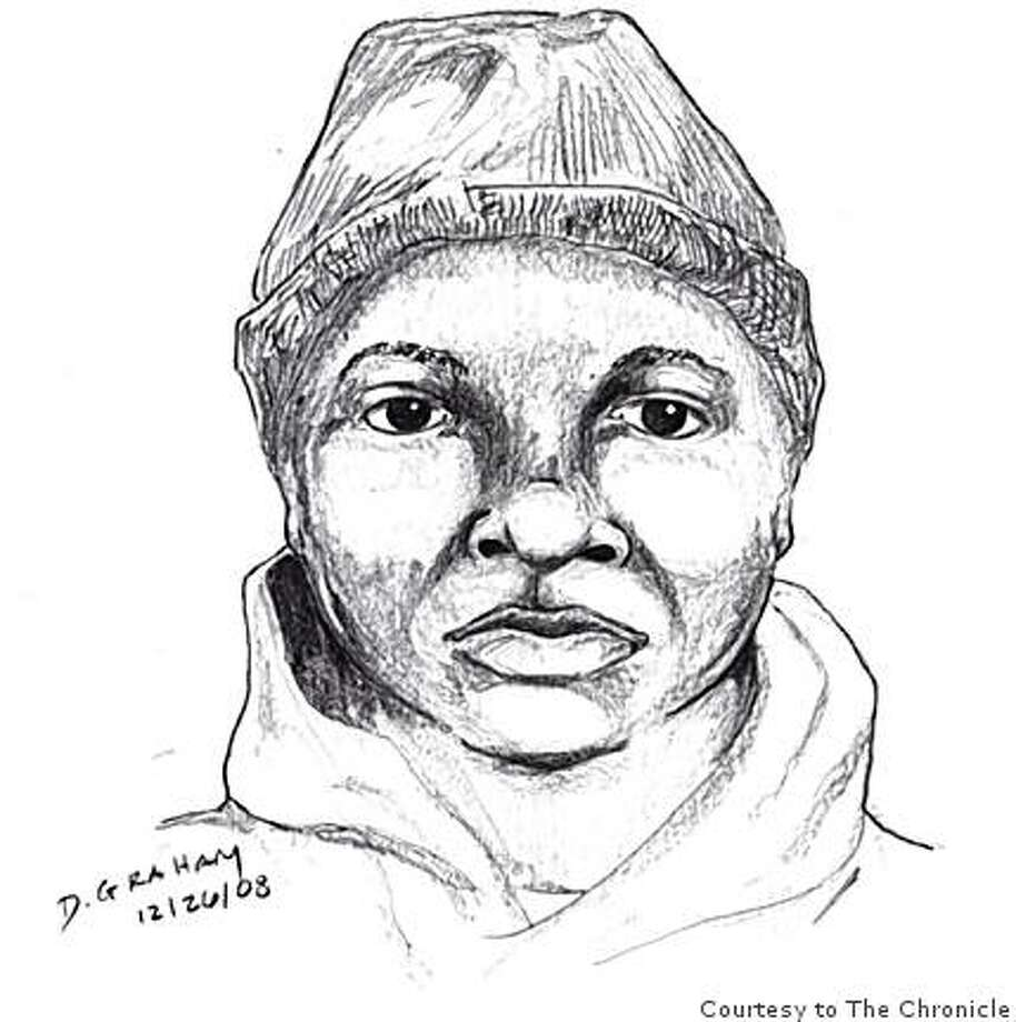 "The suspect in the Christmas night shooting death of Sergio Pereda of Concord is shown in this sketch released by the Concord Police Dept. shows.  He is described as Hispanic, Asian or Filipino, 20 to 25 years of age with ""chubby"" cheeks and dark brown eyes. Photo: Courtesy To The Chronicle"