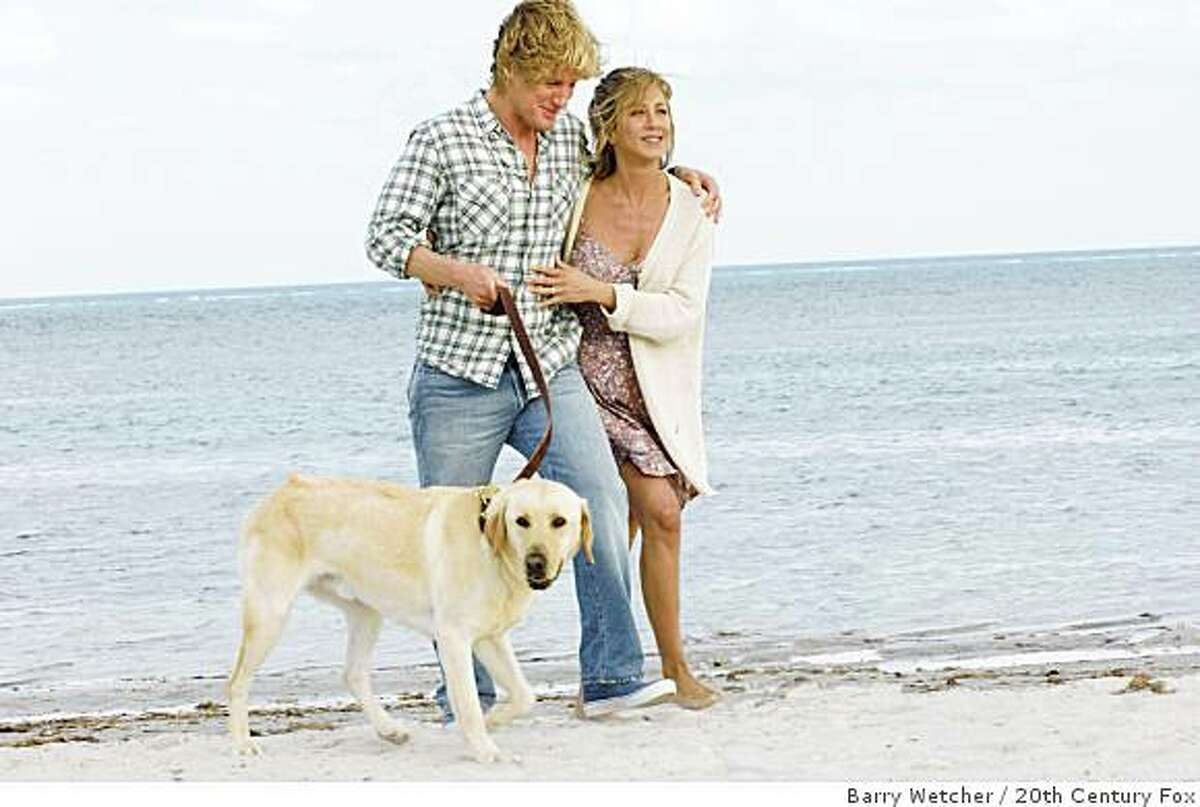 """Owen Wilson and Jennifer Aniston are shown in a scene from, """"Marley and Me."""""""