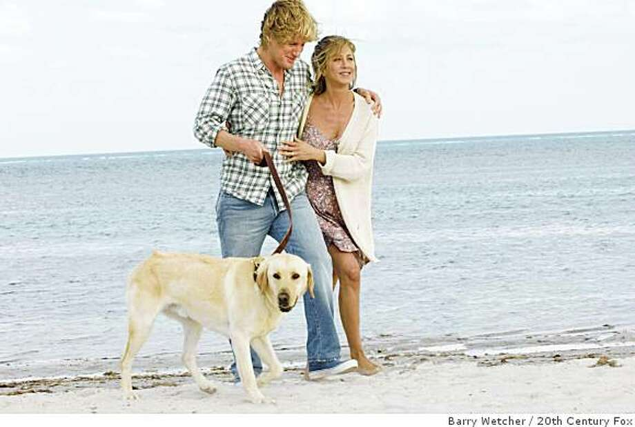"Owen Wilson and Jennifer Aniston are shown in a scene from, ""Marley and Me."" Photo: Barry Wetcher, 20th Century Fox"