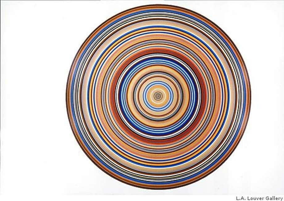 """Demoiselles D'Avignon (Patrimony Series) (2006). Oil on canvas by Don Suggs. 90"" in diameter. Photo: L.A. Louver Gallery"