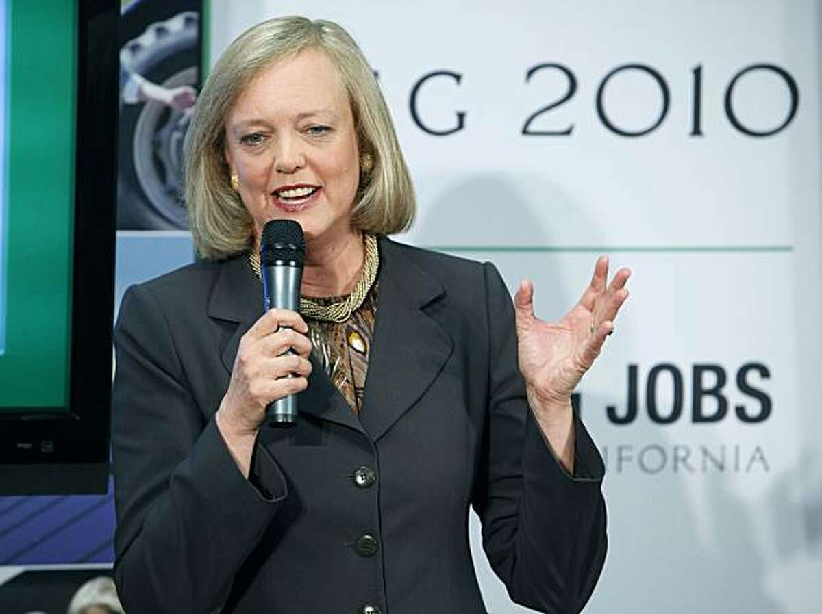 Republican candidate for Governor Meg Whitman speaks to employees of SynapSense, a computer technology company, about her plans to create jobs in California during a stop in Folsom, Calif., on Tuesday, Aug. 3, 2010.