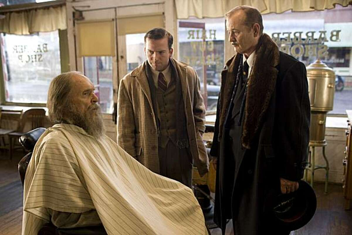 """Left to Right: Robert Duvall as Felix Bush, Lucas Black as Buddy and Bill Murray as Frank Quinn in """"Get Low."""""""