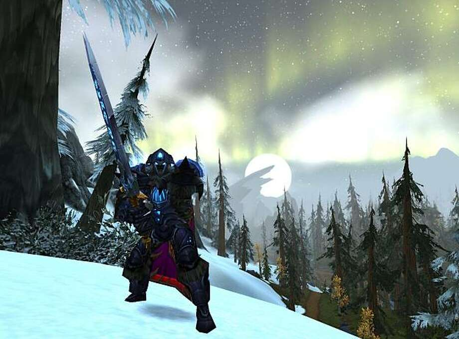 A death knight is a character class in World of Warcraft's Wrath of the Lich King expansion. Photo: Blizzard