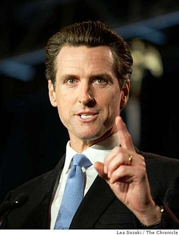 Mayor Gavin Newsom speaks at the No on 8 party at the Westin St. Francis on Tuesday, November 4, 2008 in San Francisco, Calif. Photo: Lea Suzuki, The Chronicle
