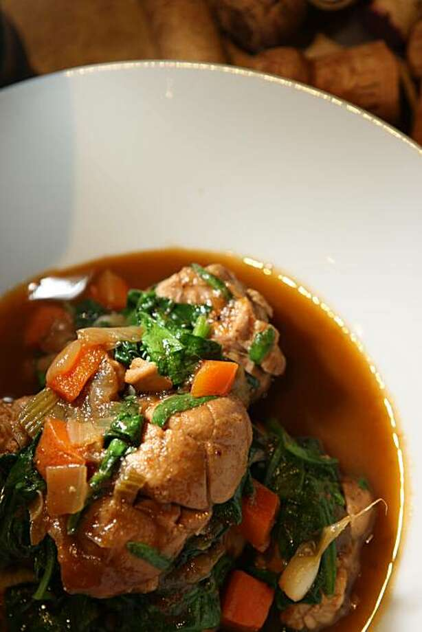 Braised veal sweetbreads w/ Madeira at Piperade restaurant in San Francisco, Calif., on Monday, July 19, 2010. Photo: Liz Hafalia, The Chronicle
