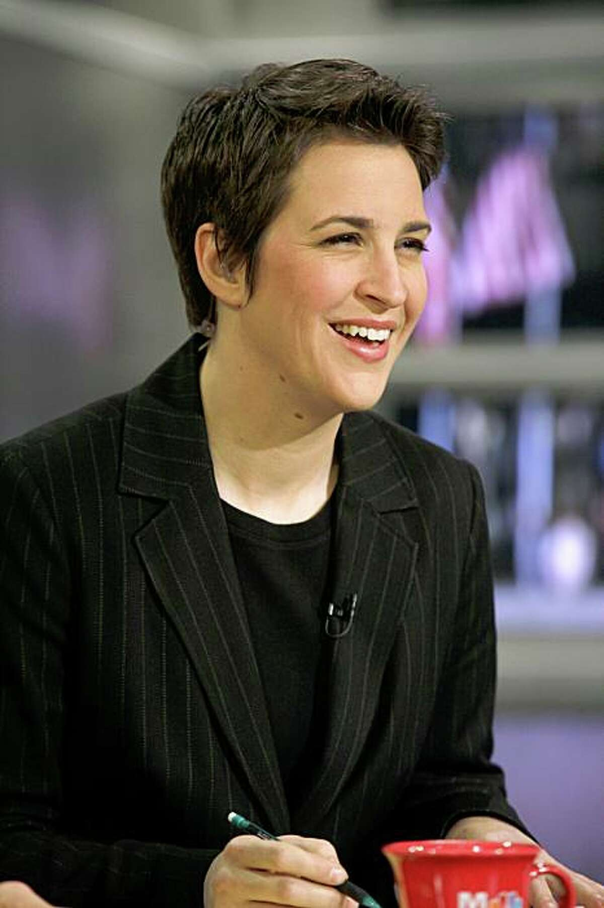 35-year-old Rachel Maddow is a new MSNBC commentator. Maddow, a lesbian and former San Francisco ACT-UP activist, will host