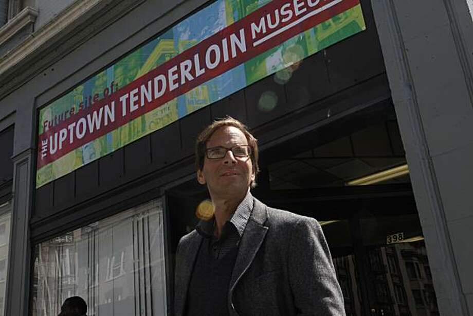 Randy Shaw, the man behind the Tenderloin Museum project, stands for a portrait outside of the Cadillac Hotel  July 7, 2010 in San Francisco, Calif. Photo: Mike Kepka, The Chronicle