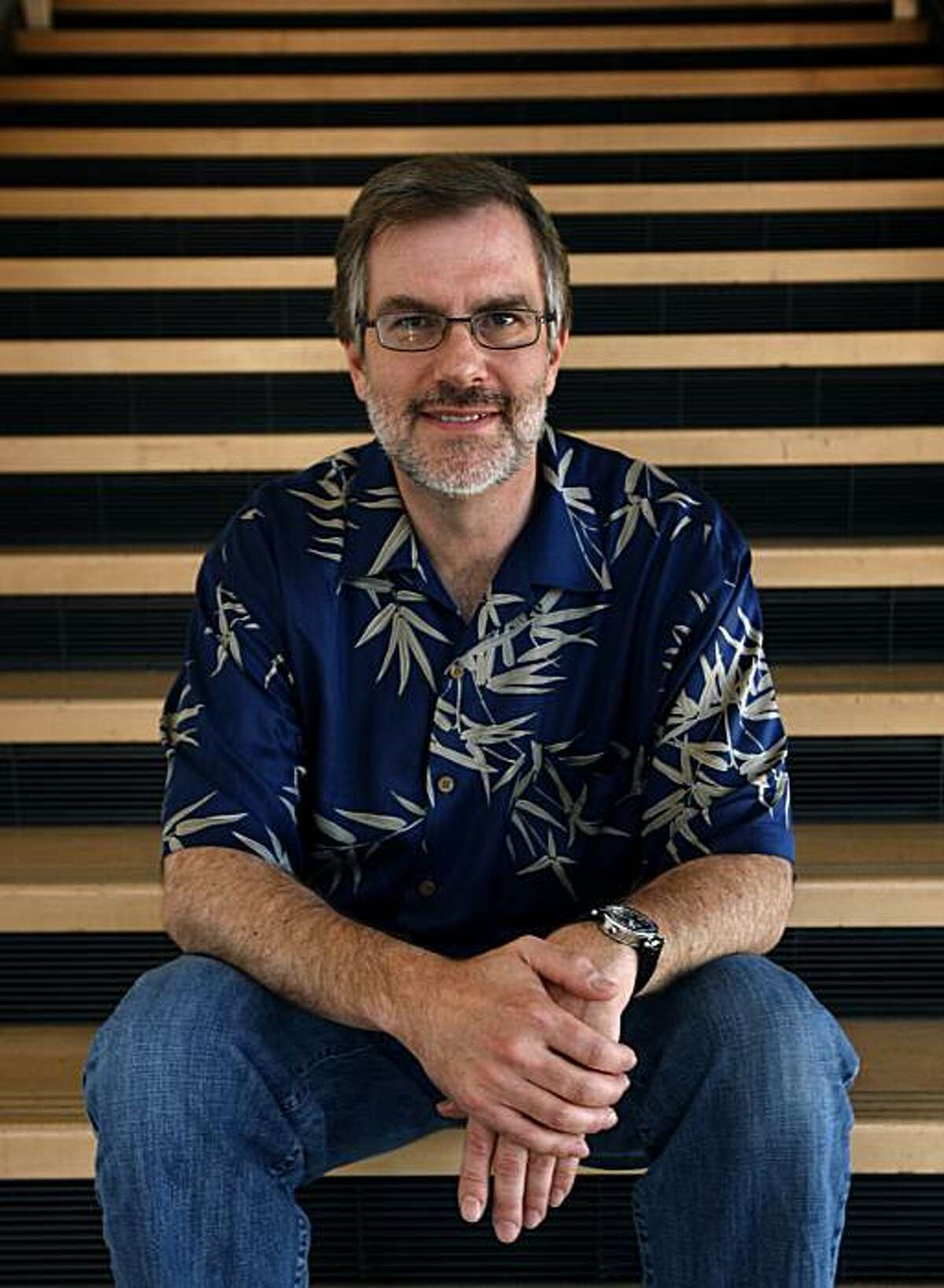 """Animation film director Gary Rydstrom is seen in Emeryville, Calif., on Friday, July 30, 2010. Rydstrom is directing the English language version of Goro Miyazaki's new film """"Tales From Earthsea""""."""