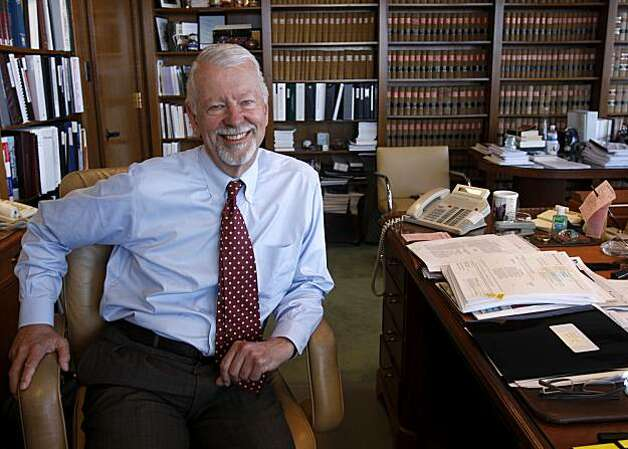 Judge Vaughn R. Walker is seen in his chambers at the Phillip Burton Federal Building in San Francisco, Calif., on Wednesday, July 8, 2009. Walker is the U.S. Chief Judge for the Northern California district. Photo: Paul Chinn, The Chronicle