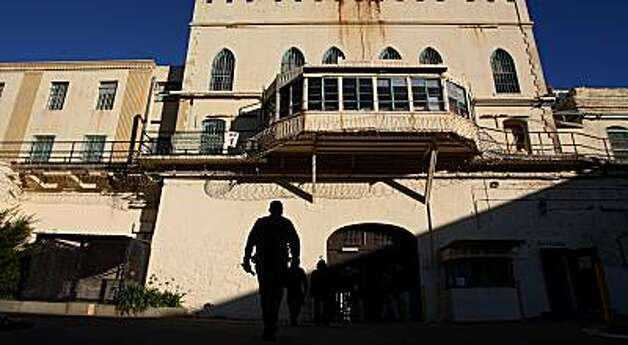 The main entrance into San Quentin State Prison in San Rafael, Calif., Friday Dec. 19, 2008 as seen from the interior courtyard. Photo: Michael Macor, The Chronicle