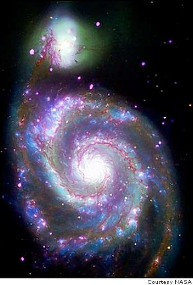 M51, whose name comes from being the 51st entry in Charles Messier's catalog, is considered to be one of the classic examples of a spiral galaxy. Photo: Courtesy NASA