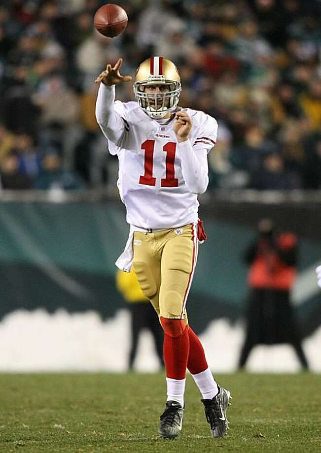 PHILADELPHIA - DECEMBER 20:  Alex Smith #11 of the San Francisco 49ers passes the ball against the Philadelphia Eagles at Lincoln Financial Field on December 20, 2009 in Philadelphia, Pennsylvania.  (Photo by Nick Laham/Getty Images) Photo: Nick Laham, Getty Images
