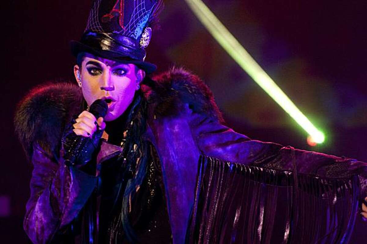 Adam Lambert entertains his fans at the Warfield Theatre on Friday, July 23, 2010 in San Francisco, Calif.