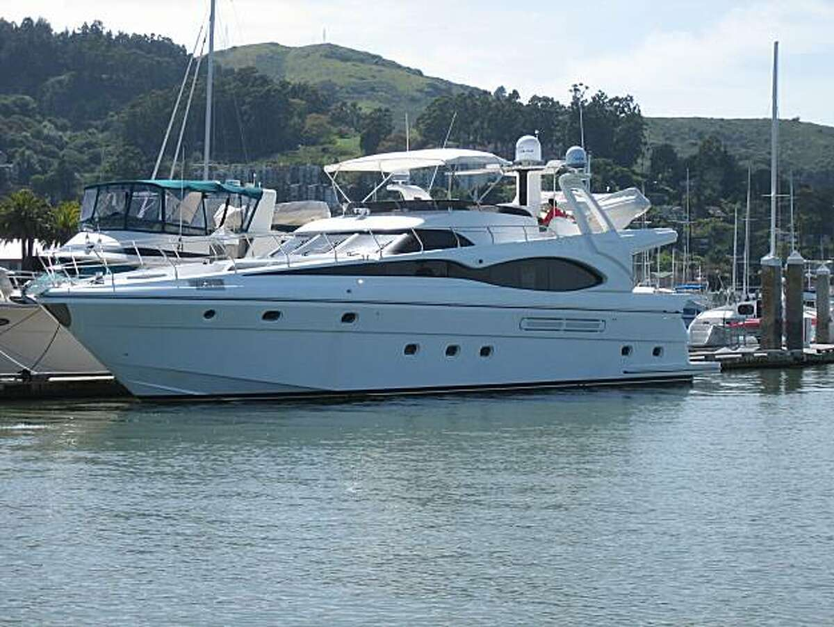 The 70-foot Alchemy V yacht belonging to Republican Sen. candidate Carly Fiorina and her husband Frank has been docked in Sausalito.