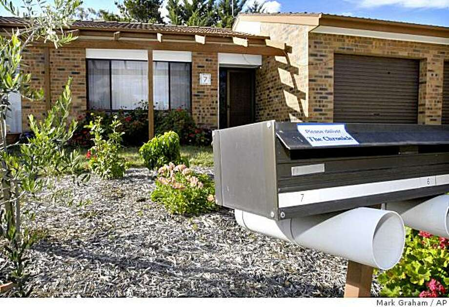 """Shown is the house at Wyselaskie Circuit in Canberra, where a legal summons was attempted to be served to the occupant via the Facebook web site, on Tuesday December 16, 2008. You've been """"superpoked"""" _ and served. A court in Australia has approved the use of Facebook, a popular social networking Web site, to notify a couple that they lost their home after defaulting on a loan. The Australian Capital Territory Supreme Court last Friday approved lawyer Mark McCormack's application to use Facebook to serve the legally binding documents after several failed attempts to contact the couple at the house and by e-mail. (AP Photo/Mark Graham) Photo: Mark Graham, AP"""