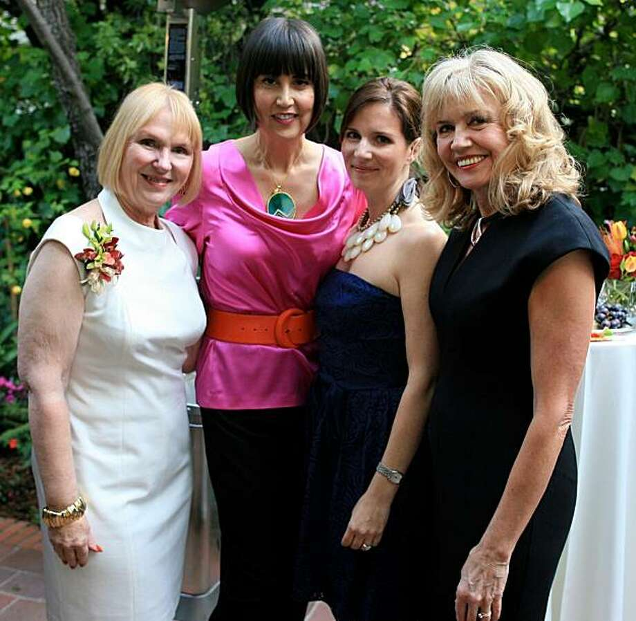 cq'd: Co-chairs Veronica Faussner, designer Trina Turk, Amy Conn and Diana Beatson at Hearts on Fire, a benefit for families in crisis sponsored by Family Service Agency of San Mateo County's Hillsborough Auxiliary, on April 24 in Hillsborough. Photo: Brandon Beatson
