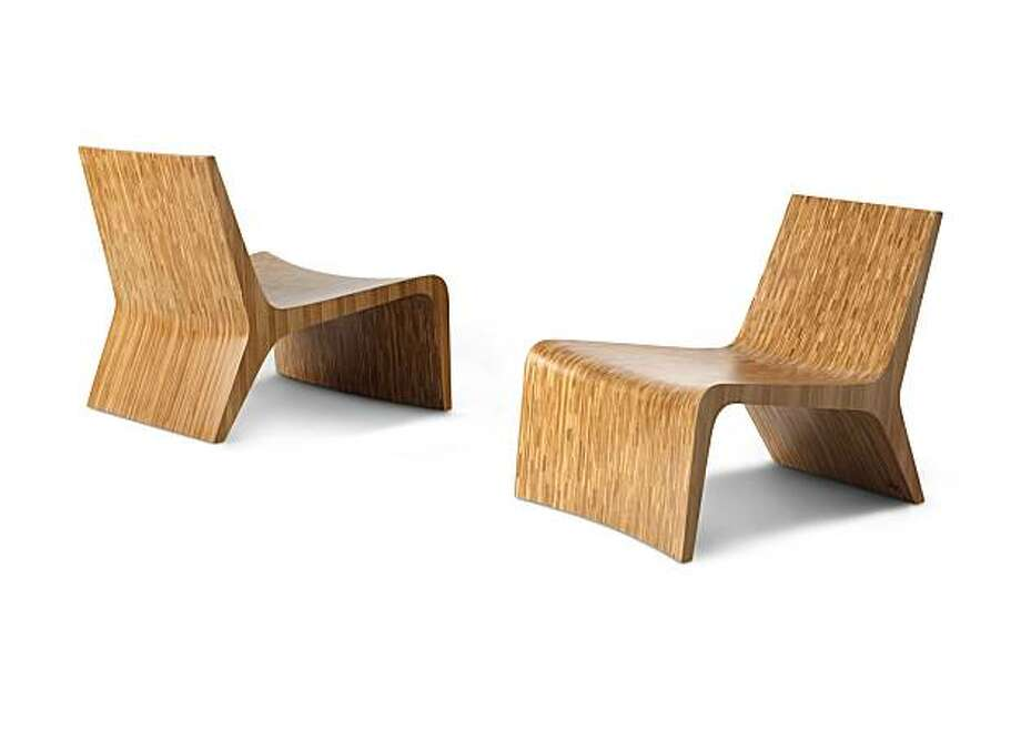 Mojave Lounge Chair made of bamboo plywood (in Amber finish) . Retail-$1,375 Photo: Rick Lee