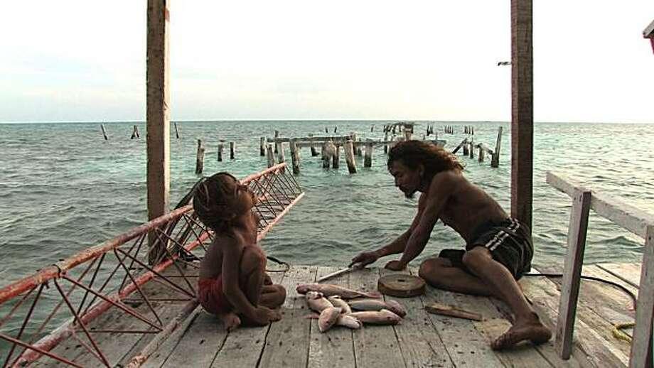 "Natan Machado Palombini, left,  and Jorge Machado in a scene from, ""Alamar."" Photo: Film Movement"