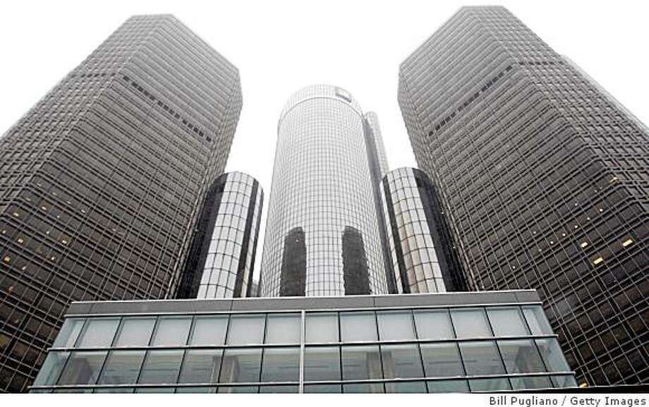 DETROIT, MI-  DECEMBER 19: The General Motors headquarters is shown December 19, 2008 in Detroit, Michgan. Today, President Bush announced a $17 billion emergency bridge loan would be given to the ailiing U.S. auto companies. (Photo by Bill Pugliano/Getty Images) Photo: Bill Pugliano, Getty Images