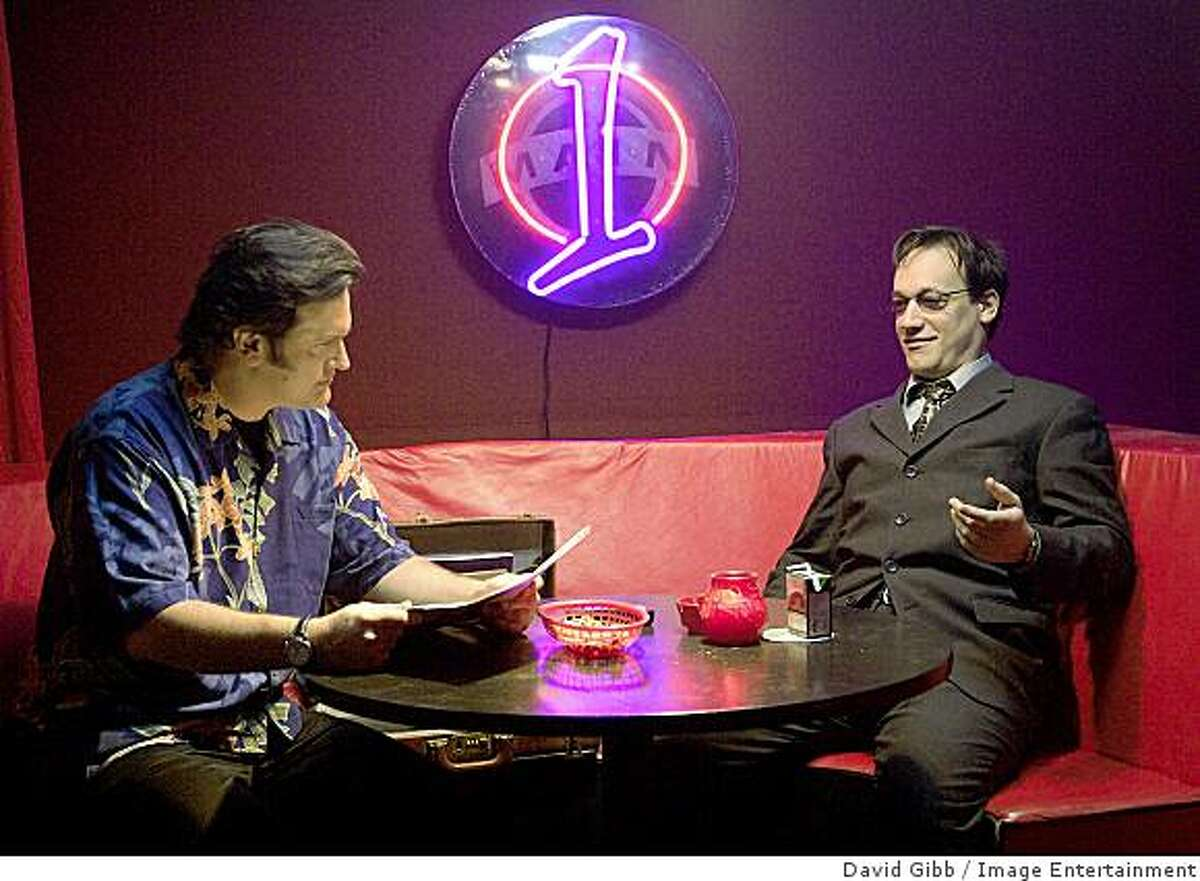 Bruce Campbell and Ted Raimi (left to right) in horror-comedy, My Name Is Bruce.