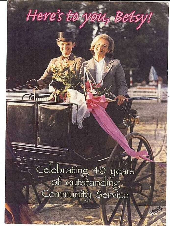 Betsy Glikbarg (right) will be honored Aug. 13 during the Menlo Charity Horse Show. Image courtesy of the Menlo Charity Horse Show. Photo: Catherine Bigelow, Special To The Chronicle