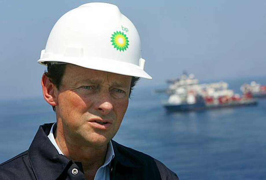 GULF OF MEXICO - MAY 28:  (FILE PHOTO)CEO of BP Tony Hayward stands on the deck of the Discover Enterprise drill ship during recovery operations May 28, 2010 in the Gulf of Mexico 55, miles south of Venice, Louisiana. It was reported by the Times of London that BP CEO Tony Hayward is expected to resign from his postion within the next 10 weeks however spokesmen with BP deny the claim July 20, 2010. Photo: Pool, Getty Images