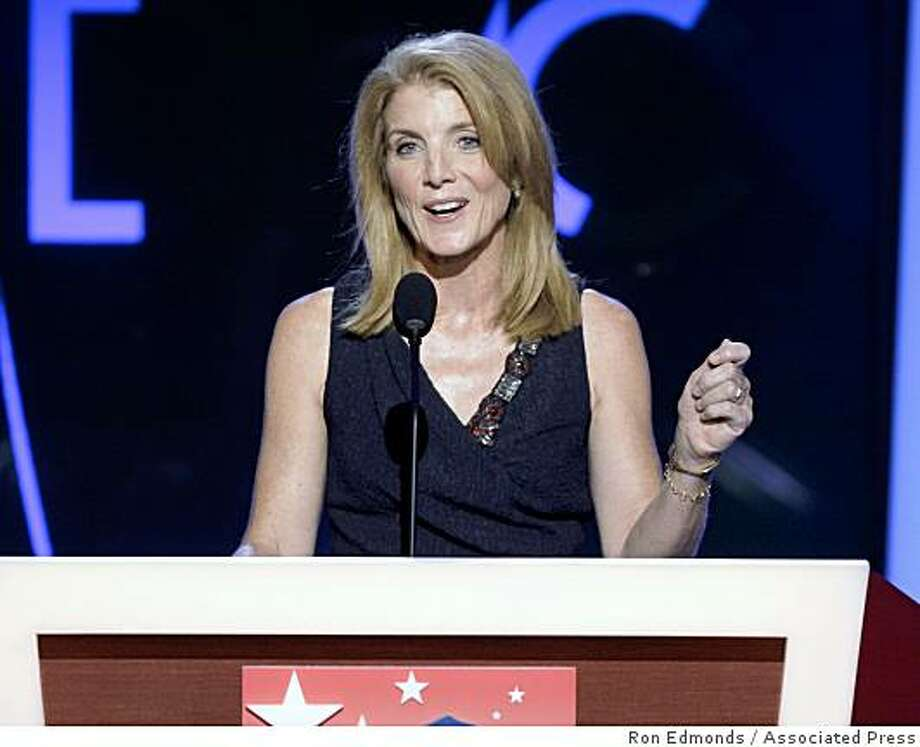 In this Monday, Aug. 25, 2008 file photo, Caroline Kennedy speaks at the Democratic National Convention in Denver. A person close to the discussions says Kennedy will seek the U.S. Senate seat being vacated by Hillary Clinton. Kennedy has told Democratic Gov. David Paterson she wants the job should Clinton be confirmed as secretary of state for President-elect Barack Obama. Photo: Ron Edmonds, Associated Press