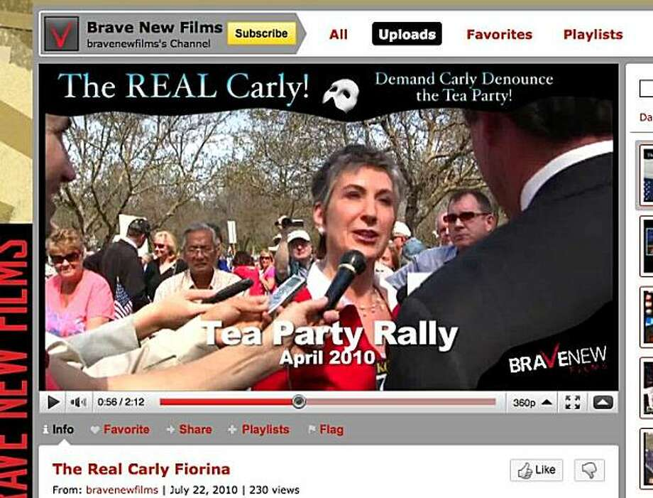 Political Advertisements are using social media networks during this campaign season. This ad about Carly Fiorina is broadcast on Brave New Film's channel.