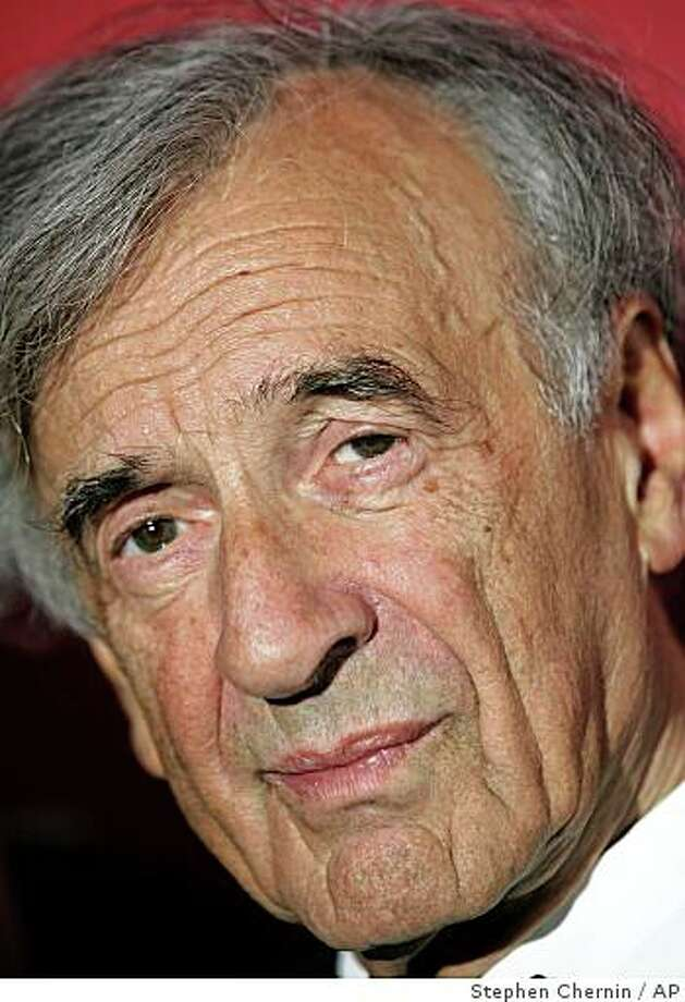 **FILE** Elie Wiesel, 1986 Nobel Prize winner arrives at the Time 100 gala, in this May 8, 2007 file photo at the Time Warner Center in New York. A man charged with dragging Wiesel from a hotel elevator apologized in court Monday Aug. 13, 2007 to the Nobel laureate over the alleged anti-Semitic attack. (AP Photo/Stephen Chernin,File) Photo: Stephen Chernin, AP