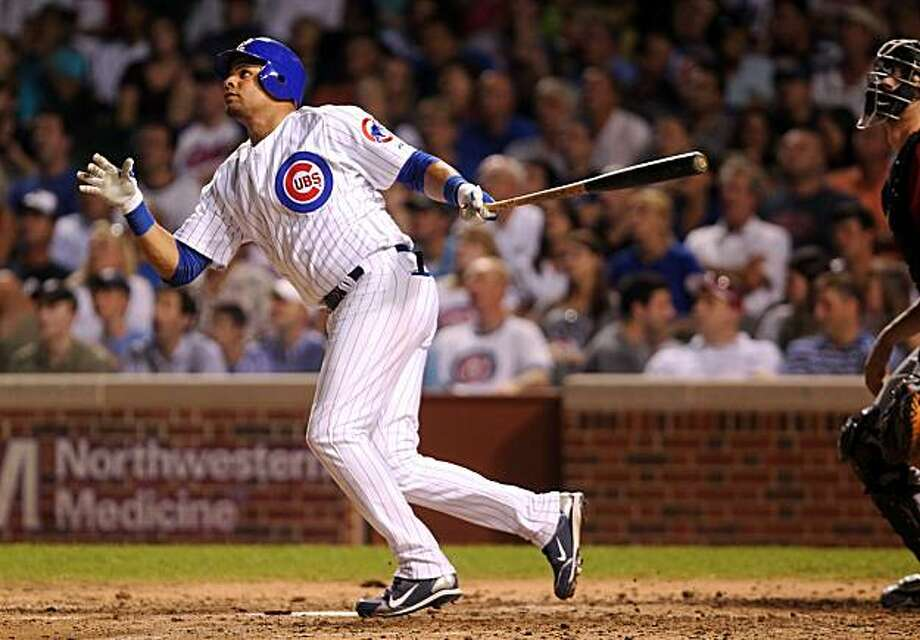 Chicago Cubs' Aramis Ramirez watches the flight of his three-run home run in the fifth inning against the Houston Astros at Wrigley Field in Chicago, Illinois, on Tuesday, July 20, 2010. (Chris Sweda/Chicago Tribune/MCT) Photo: Chris Sweda, MCT