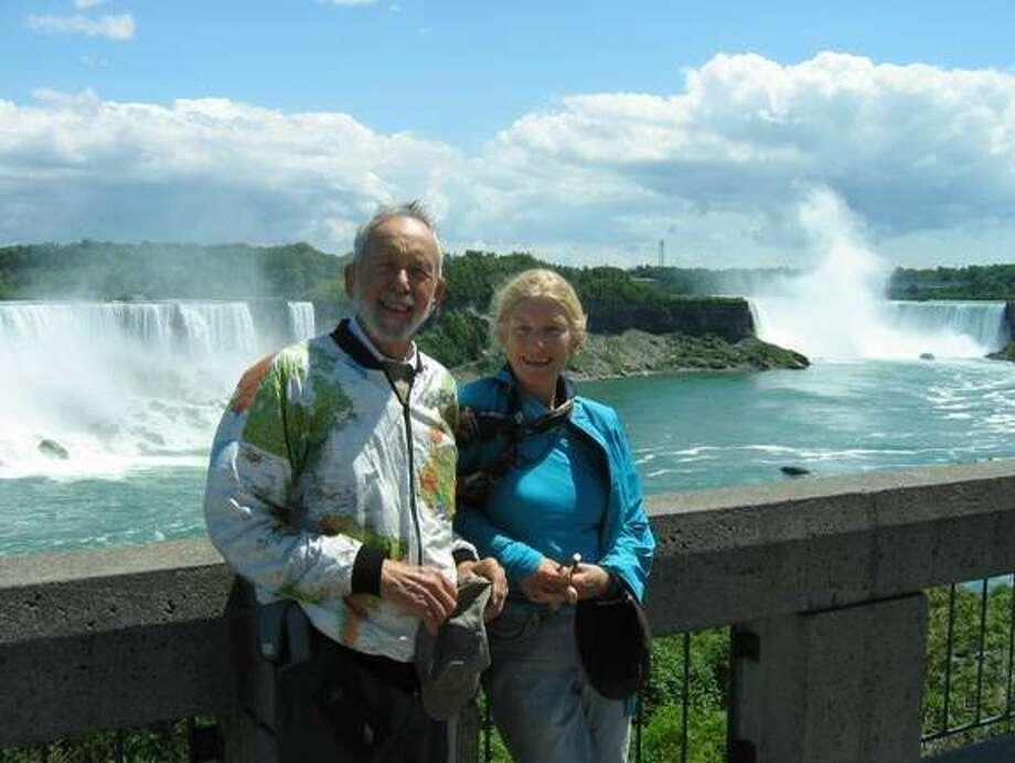 Judy and Don Langley, San Francisco, at Niagra Falls, Canada. Photo: Courtesy, Judy And Don Langley