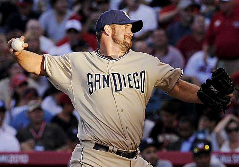 National League pitcher Heath Bell, of the San Diego Padres, winds up during the fifth inning of the All-Star baseball game Tuesday, July 13, 2010, in Anaheim, Calif. Photo: Mark J. Terrill, AP