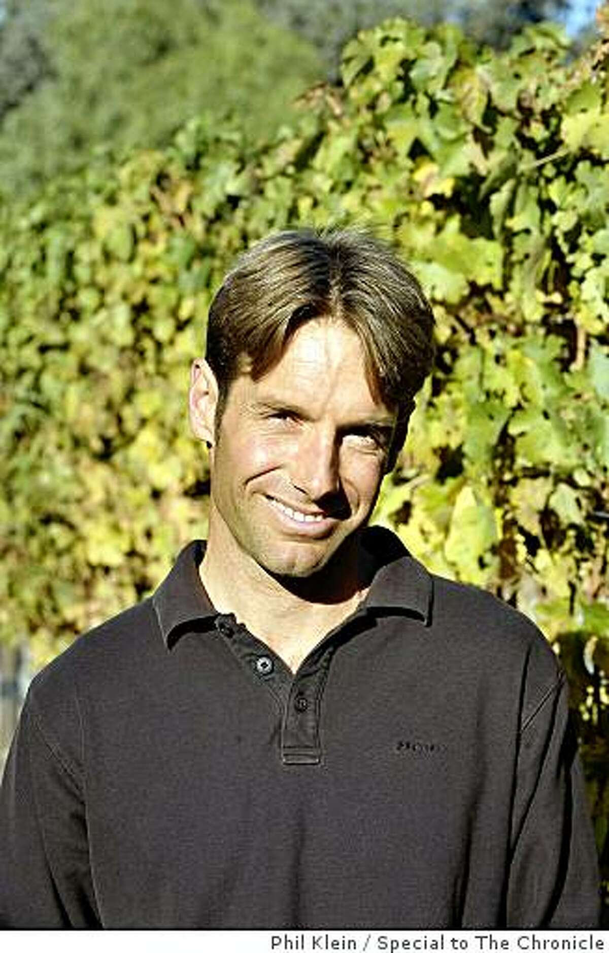 Winemaker Nick DeLuca poses for a photograph at the Star Lane vineyard in Santa Ynez on Tuesday, Dec. 9, 2008. Photo/Phil Klein