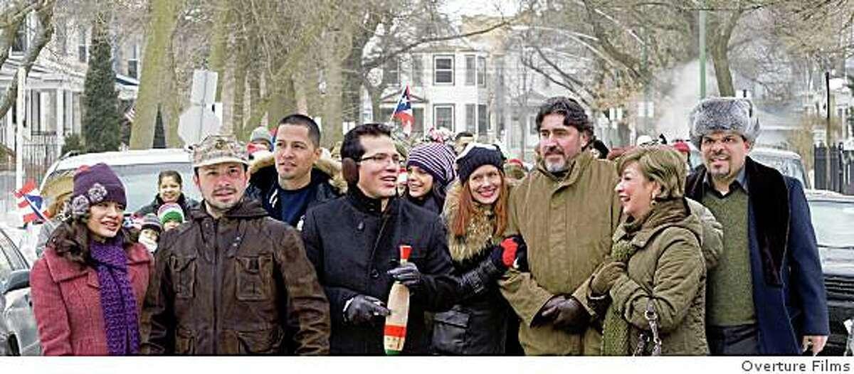 ?Nothing Like the Holidays? stars (from left) Melonie Diaz, Freddy Rodriguez, Jay Hernandez, John Leguizamo, Vanessa Ferlito, Debra Messing, Alfred Molina, Elizabeth Pena and Luis Guzman