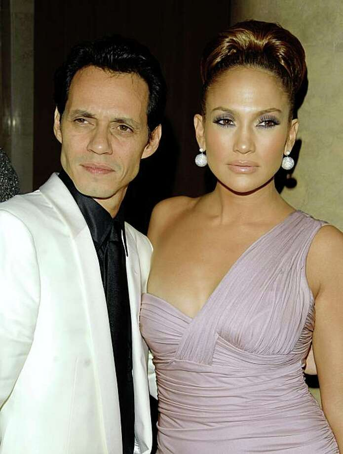 Jennifer Lopez has listed her French farmhouse estate in Bel-Air at $8.5 million. J-Lo, her singer husband, Marc Anthony, and their 9-month-old fraternal twins have been the subject of continuing sightings in the Long Island, N.Y., community of Brookville, fueling speculation that they have relocated to New York.  ** FILE ** In this Oct. 23, 2008 file photo, Jennifer Lopez and Marc Anthony arrive at the Fashion Group's 25th Annual Night of Stars in New York.  (AP Photo/Peter Kramer, file) Photo: Peter Kramer, AP