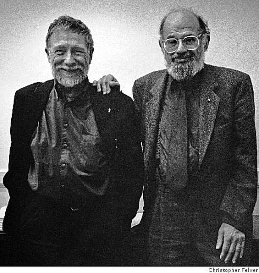 Gary Snyder and Allen Ginsberg met in San Francisco in 1955 and corresponded until 1995, two years before Ginsberg died. Photo: Christopher Felver